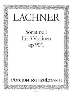 Sonatine op. 90 n° 1 Ignaz Lachner Partition Violon - laflutedepan