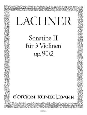 Ignaz Lachner - Sonatine op. 90 n° 2 - Partition - di-arezzo.fr