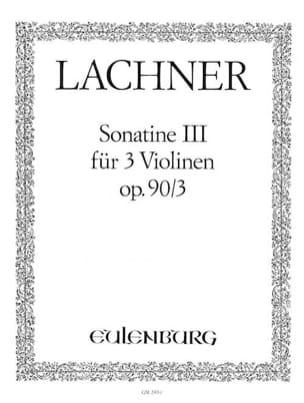 Sonatine op. 90 n° 3 Ignaz Lachner Partition Violon - laflutedepan