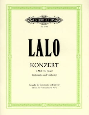 Edouard Lalo - Concerto Violoncelle en ré mineur - Partition - di-arezzo.fr