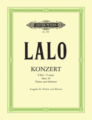 Edouard Lalo - Concerto Violon op. 20 - Partition - di-arezzo.fr