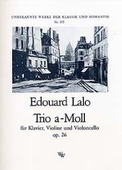Edouard Lalo - Trio a-moll op. 26 –Klavier, Violine Cello - Partition - di-arezzo.fr