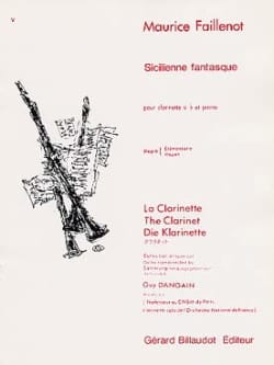 Maurice Faillenot - Sicilian whimsical - Sheet Music - di-arezzo.co.uk