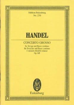 Georg Friedrich Haendel - Concerto grosso c-moll - Partition - di-arezzo.fr