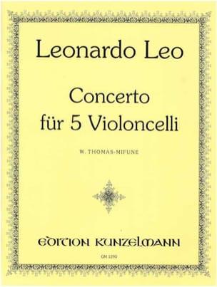 Leonardo Leo - Concerto für 5 Violoncelli - Partition - di-arezzo.fr