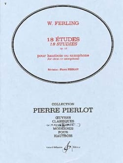 W. Ferling - 18 Etudes op. 12 - Partition - di-arezzo.fr