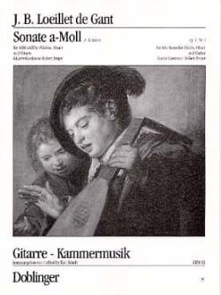 de Gant Jean Baptiste Loeillet - Sonate a-moll op. 1 n° 1 - Altblockflöte Violine, Oboe Gitarre - Partition - di-arezzo.fr