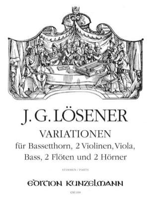 Variations (Parties) - Cor De Basset-Quatuor A Cordes-2 Flûtes-2 Cors - laflutedepan.com