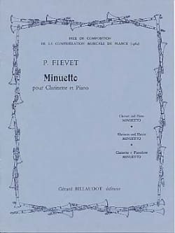 Minuetto - Paul Fievet - Partition - Clarinette - laflutedepan.com