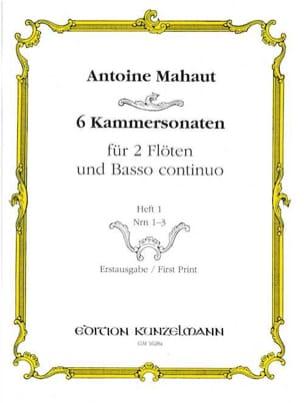 Antoine Mahaut - 6 Kammersonaten - Heft 1: Nr. 1-3 - 2 Flöten Bc - Sheet Music - di-arezzo.co.uk