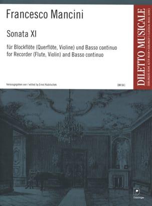 Francesco Mancini - Sonata Nr. 11 – Blockflöte und Bc - Partition - di-arezzo.fr