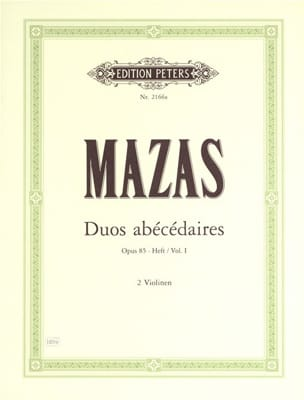 MAZAS - Duos abécédaires op. 85 cahier 1 - Partition - di-arezzo.fr