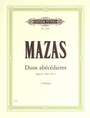 MAZAS - Abecedary Duets op. 85 notebook 1 - Sheet Music - di-arezzo.com