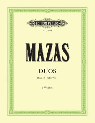 Duette op. 39 - Bd. 1 MAZAS Partition Violon - laflutedepan