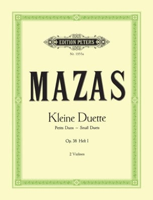 MAZAS - Kleine Duette Op.38 Bd.1 Small Duets - Sheet Music - di-arezzo.co.uk