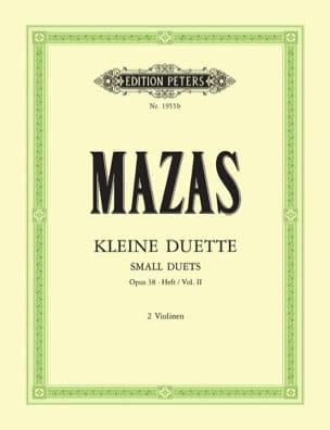 Jacques Féréol Mazas - Kleine Duette op.38 (Vol. 2) - Partition - di-arezzo.fr