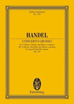 Concerto grosso D-Dur - HAENDEL - Partition - laflutedepan.com