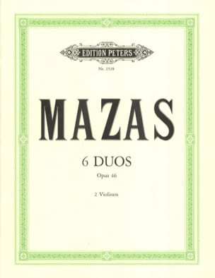 MAZAS - 6 Duos op. 46 - Sheet Music - di-arezzo.co.uk