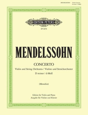 MENDELSSOHN - Violin Concerto Minor Menuhin - Sheet Music - di-arezzo.co.uk
