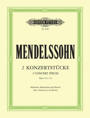 Bartholdy Felix Mendelssohn - 2 Konzertstücke op. 113/114 – Klarinette Bassetthorn Klavier - Partition - di-arezzo.fr