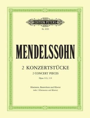 MENDELSSOHN - 2 Konzertstücke op. 113/114 - Klarinette Bassetthorn Klavier - Sheet Music - di-arezzo.co.uk