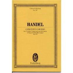 Georg Friedrich Haendel - Concerto grosso D-Dur - Partition - di-arezzo.fr