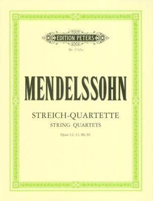 Bartholdy Felix Mendelssohn - Streichquartette op. 12, 13, 80, 81 –Stimmen - Partition - di-arezzo.fr