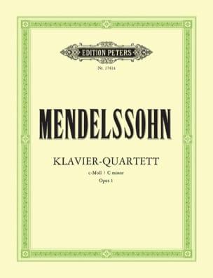 Bartholdy Felix Mendelssohn - Klavierquartett c-moll op. 1 –Stimmen - Partition - di-arezzo.fr