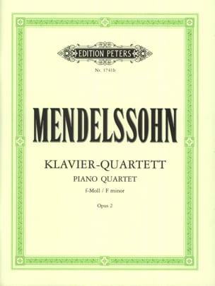 Klavierquartett f-moll op. 2 -parties MENDELSSOHN laflutedepan