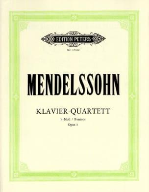 MENDELSSOHN - Klavierquartett h-moll op。 3 - スティムメン - 楽譜 - di-arezzo.jp