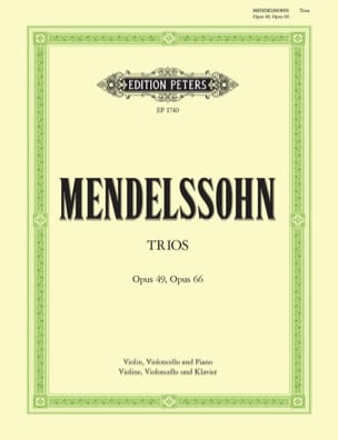 Bartholdy Felix Mendelssohn - Klaviertrios op. 49 (d-moll) und 66 (c-moll) - Partition - di-arezzo.fr