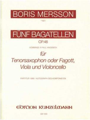 5 Bagatellen op. 46 - Partitur + Stimmen - laflutedepan.com