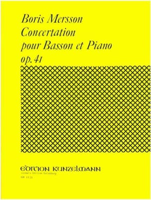 Boris Mersson - Concertation for bassoon and piano op. 41 - Sheet Music - di-arezzo.com
