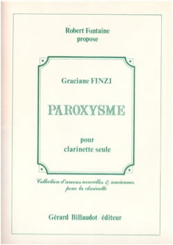 Graciane Finzi - paroxysm - Sheet Music - di-arezzo.co.uk