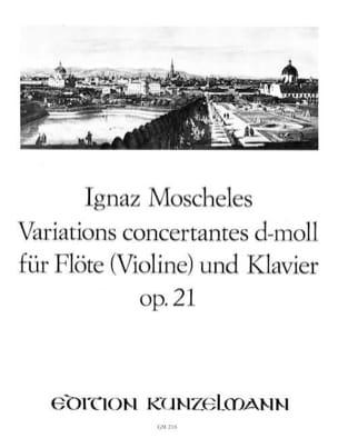 Ignaz Moscheles - Variations concertantes d-moll op. 21 - Flöte Violine Klavier - Partition - di-arezzo.fr
