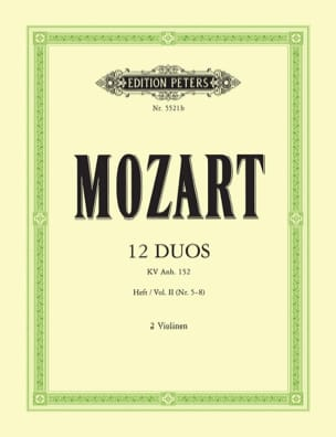 MOZART - 12 Duos KV Anh. 152, Volume 2 - Sheet Music - di-arezzo.co.uk