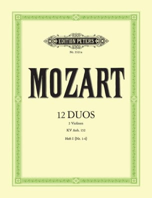 MOZART - 12 Duos Kv Anh. 152 Volume 1 - Sheet Music - di-arezzo.co.uk