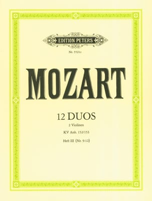 MOZART - 12 Duos KV Anh. 152/153, Volume 3 - Sheet Music - di-arezzo.co.uk