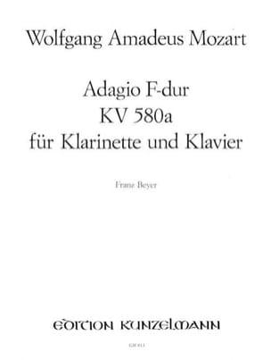 MOZART - Adagio F-Dur KV 580a - Klarinette Oboe, Flöte, Violine Klavier - Partition - di-arezzo.fr