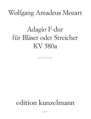 Adagio F-Dur KV 580a – Bläser oder Streicher - Partitutr + Stimmen - laflutedepan.com