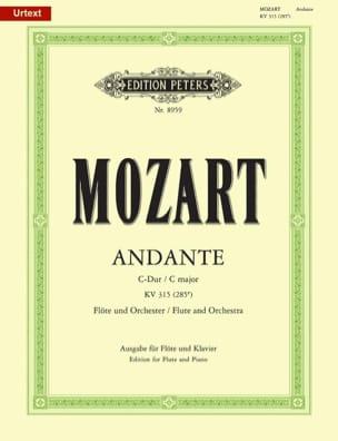 Wolfgang Amadeus Mozart - Andante C-Dur KV 315 (285e) – Flöte Klavier - Partition - di-arezzo.fr