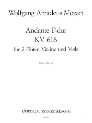 Wolfgang Amadeus Mozart - Andante F-Dur KV 616 –2 Flöten Violin Viola - Partition - di-arezzo.fr
