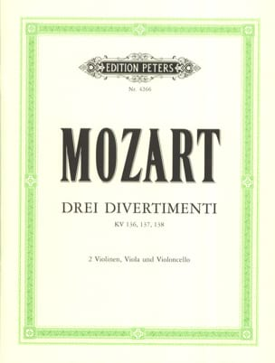 MOZART - 3 Divertimenti KV 136, 137, 138 - Stimmen - Sheet Music - di-arezzo.co.uk