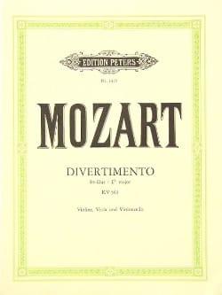 Wolfgang Amadeus Mozart - Divertimento Es-Dur KV 563 –Violine Viola Cello - Stimmen - Partition - di-arezzo.fr