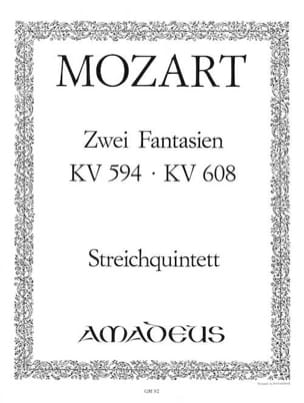 MOZART - 2 Fantasy KV 594 and KV 608 - Stimmen - Sheet Music - di-arezzo.co.uk