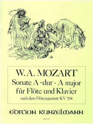 MOZART - Sonate A-Dur, Kv 298 – Flöte Klavier - Partition - di-arezzo.fr