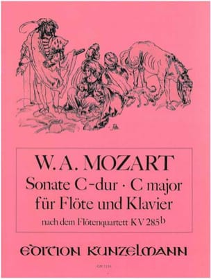 Sonate C-Dur nach Flötenquartett KV 285b - Flöte Klavier - laflutedepan.com