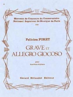 Grave et Allegro Giocoso Félicien Foret Partition laflutedepan
