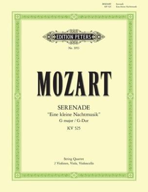 MOZART - Eine kleine Nachtmusik - Streichquartett - Stimmen - Sheet Music - di-arezzo.co.uk