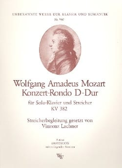 Konzert-Rondo D-Dur KV 382 - Solo Klavier u. Streicher - Stimmen - laflutedepan.com